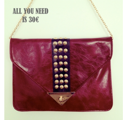 All you need is 30 bolso burdeos