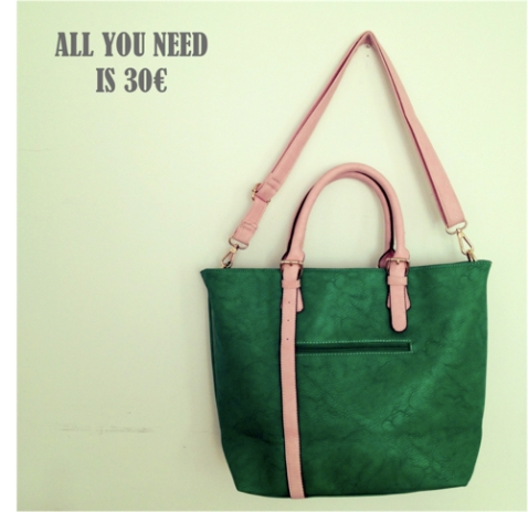All you need is 30 bolso cuero y verde