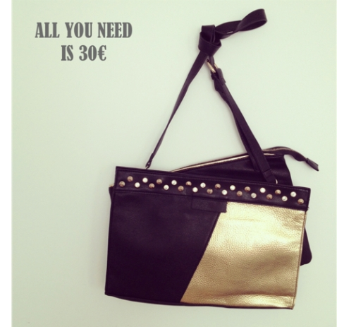 All you need is 30 bolso negro y oro