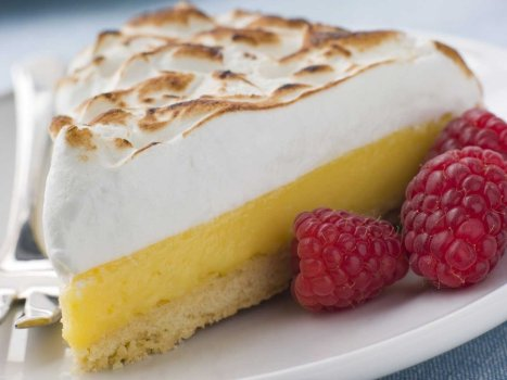 lemon-pie con frambuesas