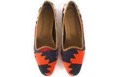 Zapatos tejido kilim