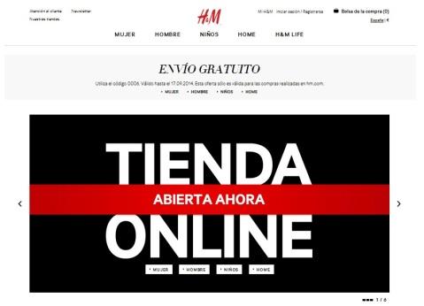 Home de la Tienda Online de H&M España