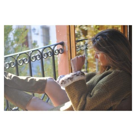 Abrigo con puño piel Attic San Francisco AW1516